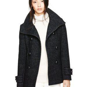 Aritzia Black/Grey Babaton Howell Wool Coat Sz XXS